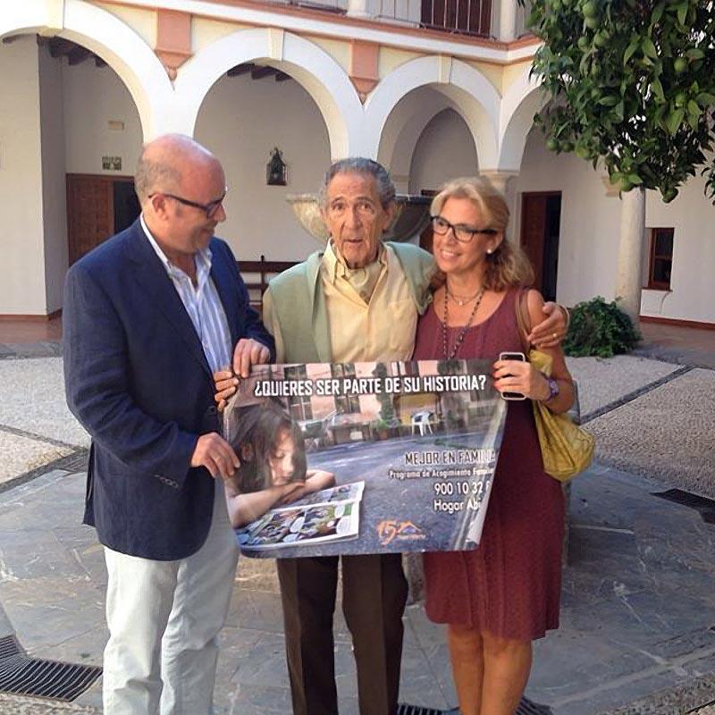 Antonio Gala apoya a Hogar Abierto