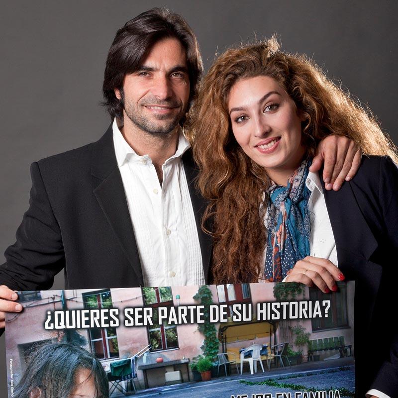 Javier Conde y Estrella Morente apoyan a Hogar Abierto