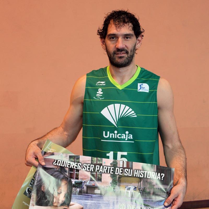 Jorge Garbajosa apoya a Hogar Abierto