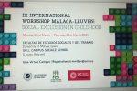Hogar Abierto participa en el IX International Workshop Malaga-Leuven